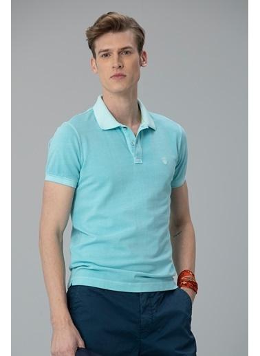 Lufian Vernon Spor Polo T- Shirt Aqua Mavi
